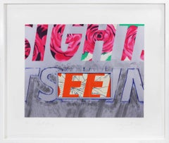 James Rosenquist, Sight-seeing, lithograph, signed, 1972