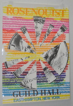 """James Rosenquist Signed """"Guild Hall, Starfish"""" Exhibition Lithograph c.1974"""