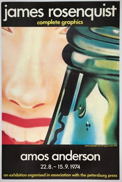 Vintage James Rosenquist poster Amos Anderson (Hey! Let's Go for a Ride 1973)