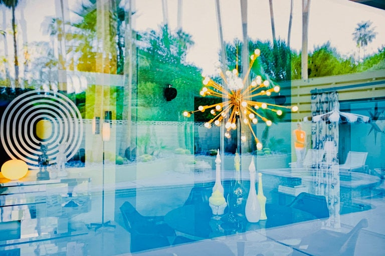 """""""William in Reflections"""" James Schnepf Photograph Palm Springs Modernism - Blue Color Photograph by James Schnepf"""