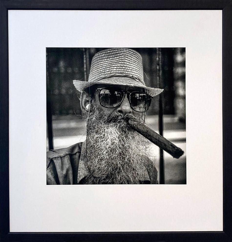 El Barbudo by James Sparshatt. Silver Gelatin Print with Wooden Frame, 2002