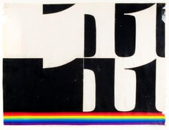 Untitled (The Number with Rainbow lines)