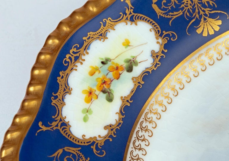 James Stinton Royal Worcester Castle of Doune Hand Painted Cabinet Plate For Sale 2