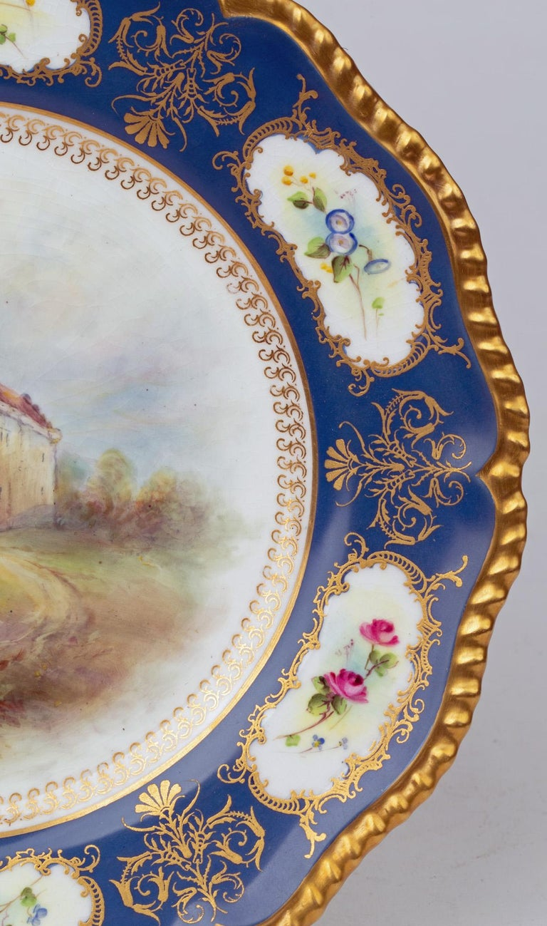 James Stinton Royal Worcester Castle of Doune Hand Painted Cabinet Plate For Sale 12
