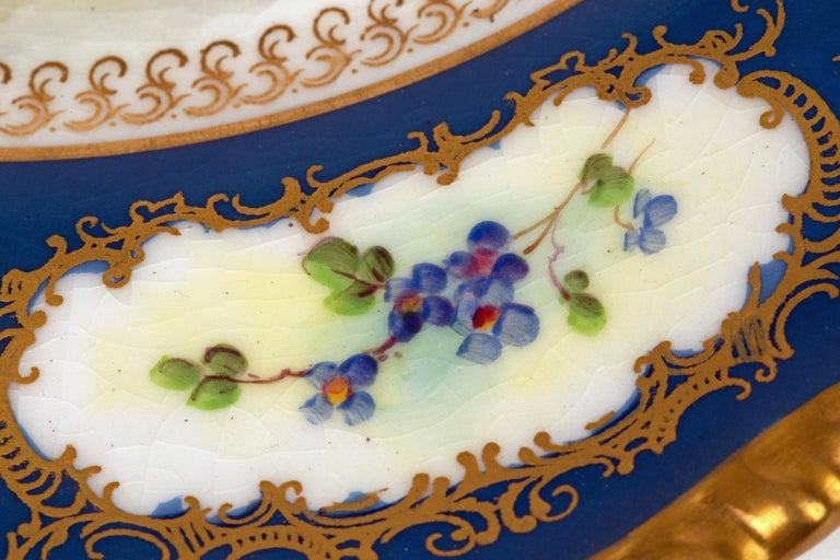 Mid-20th Century James Stinton Royal Worcester Castle of Doune Hand Painted Cabinet Plate For Sale