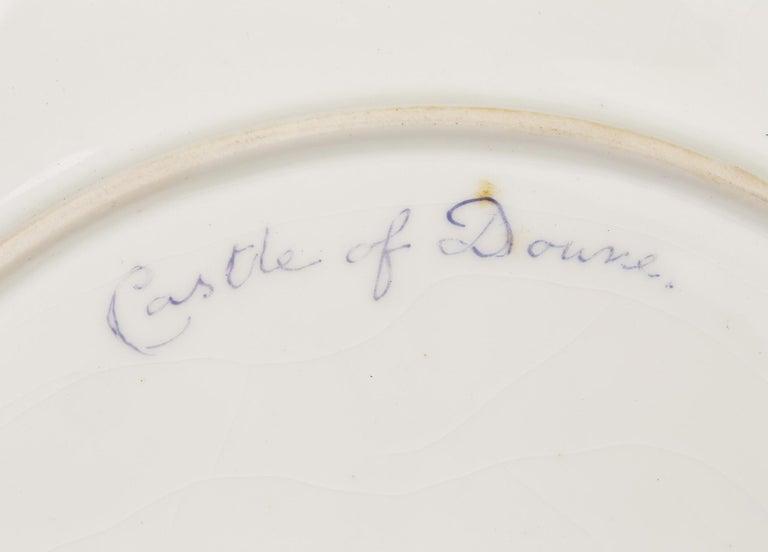 Porcelain James Stinton Royal Worcester Castle of Doune Hand Painted Cabinet Plate For Sale