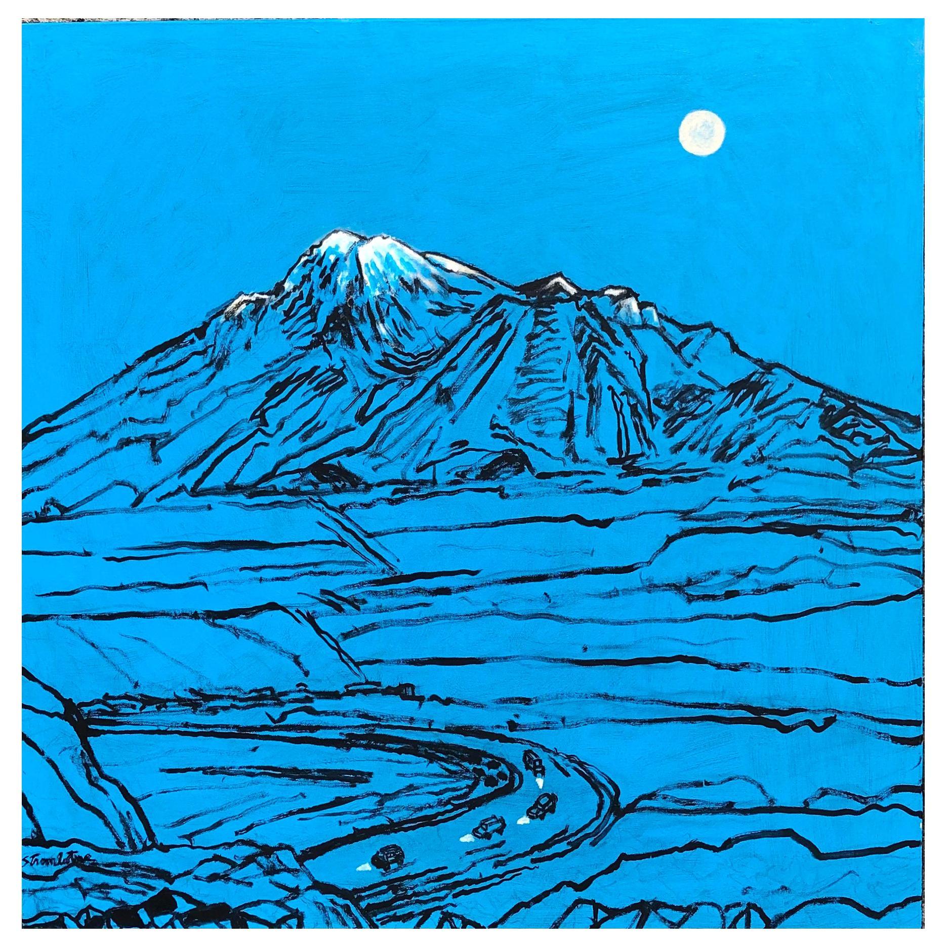 "James Strombotne, Acrylic on Canvas Painting, Titled ""Night Passage"""