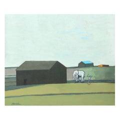 """James Strombotne """"My Elephant"""" Acrylic on Canvas Painting, 2018"""