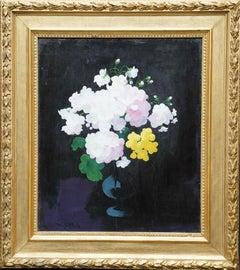 Still Life of Flowers - Scottish Glasgow Boy art Victorian floral oil painting