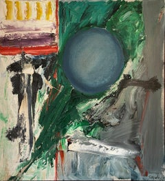 """""""Resistance, 1962"""" James Suzuki, California Colorful Abstract Expressionism"""