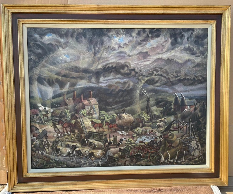 The Gathering Storm - 1930s Modern British Oil Painting by James Osborne For Sale 1
