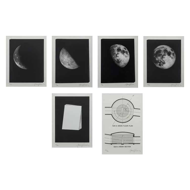 """James Turrell, """"Image Stone: Moon Side"""" Portfolio of Six Images For Sale"""