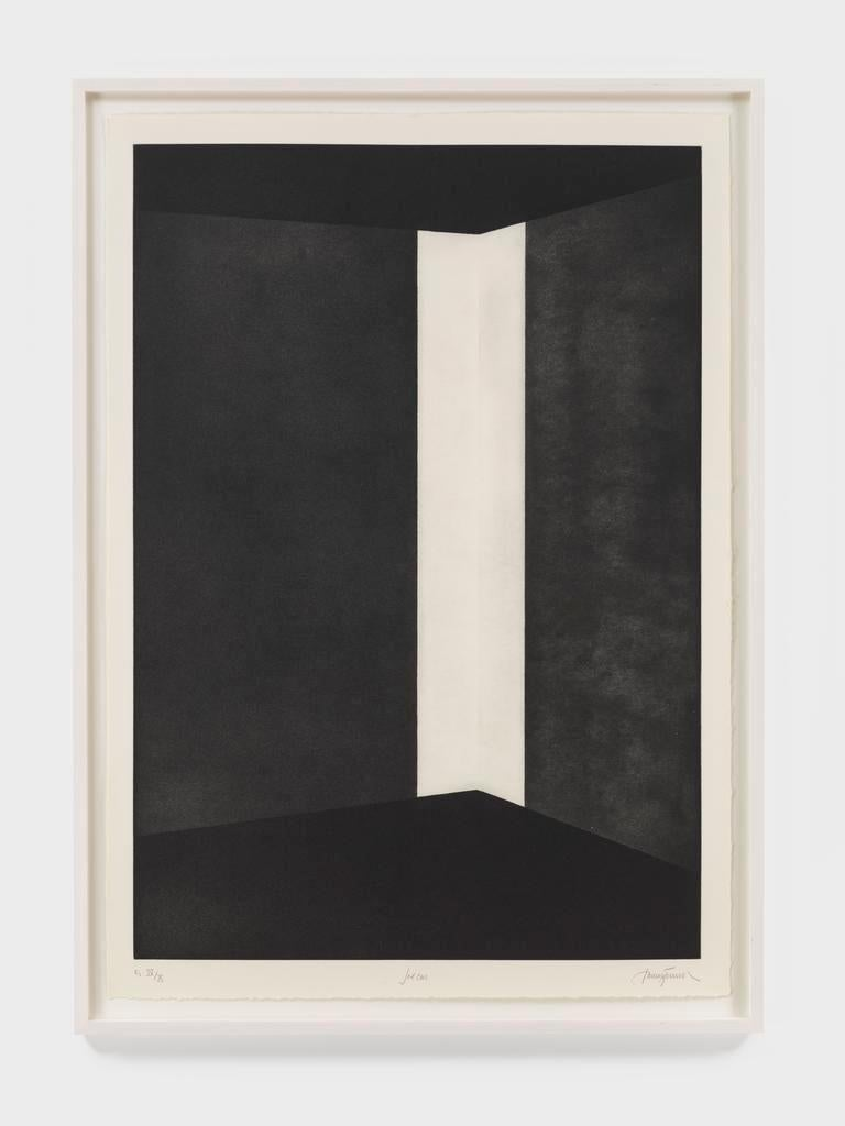 First Light (Columns) - Black Abstract Print by James Turrell