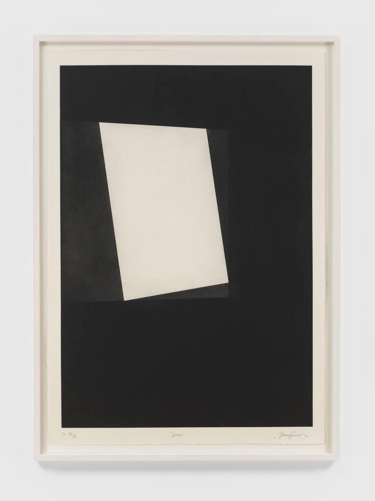 First Light (Parallelograms) - Black Abstract Print by James Turrell