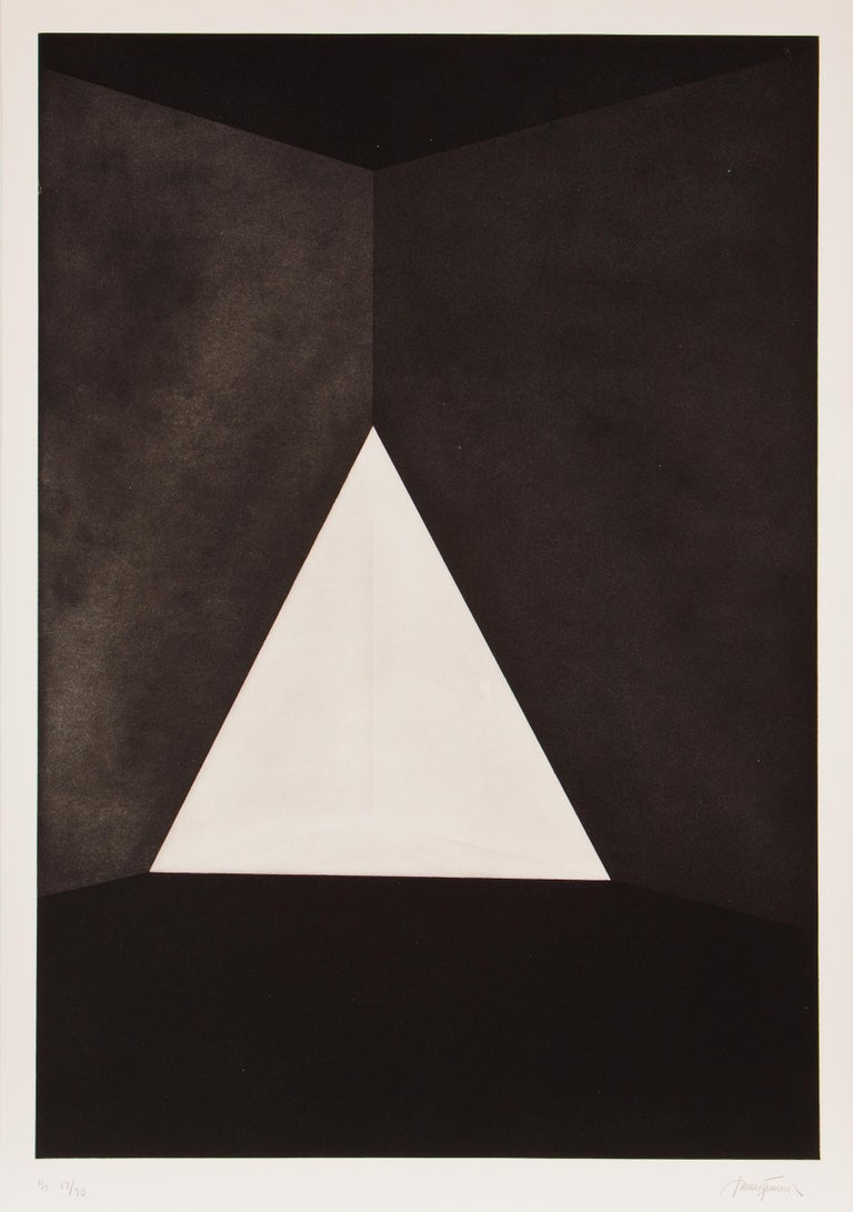 "James Turrell ""Gard (First Light)"" 1989-90 Aquatint 42 7/16 x 29 13/16 inches Ed. 30 Framed  This work is in pristine condition and has been framed according to museum quality archival preparations."