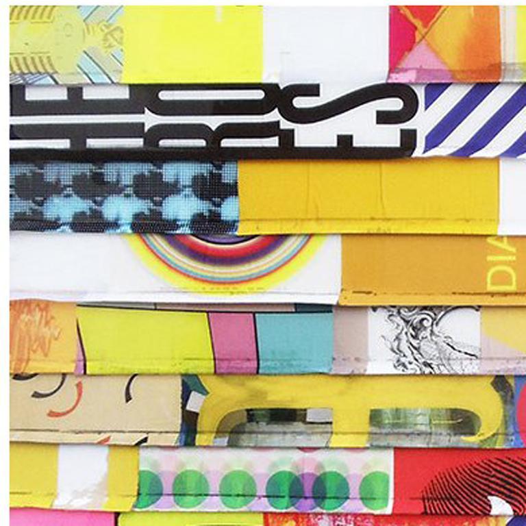 Blitz 45 - Abstract Mixed Media Art by James Verbicky