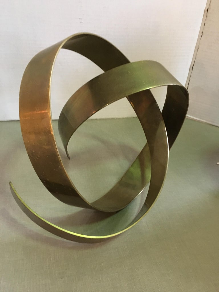 American James W. Uhrig Brass Abstract Sculpture For Sale