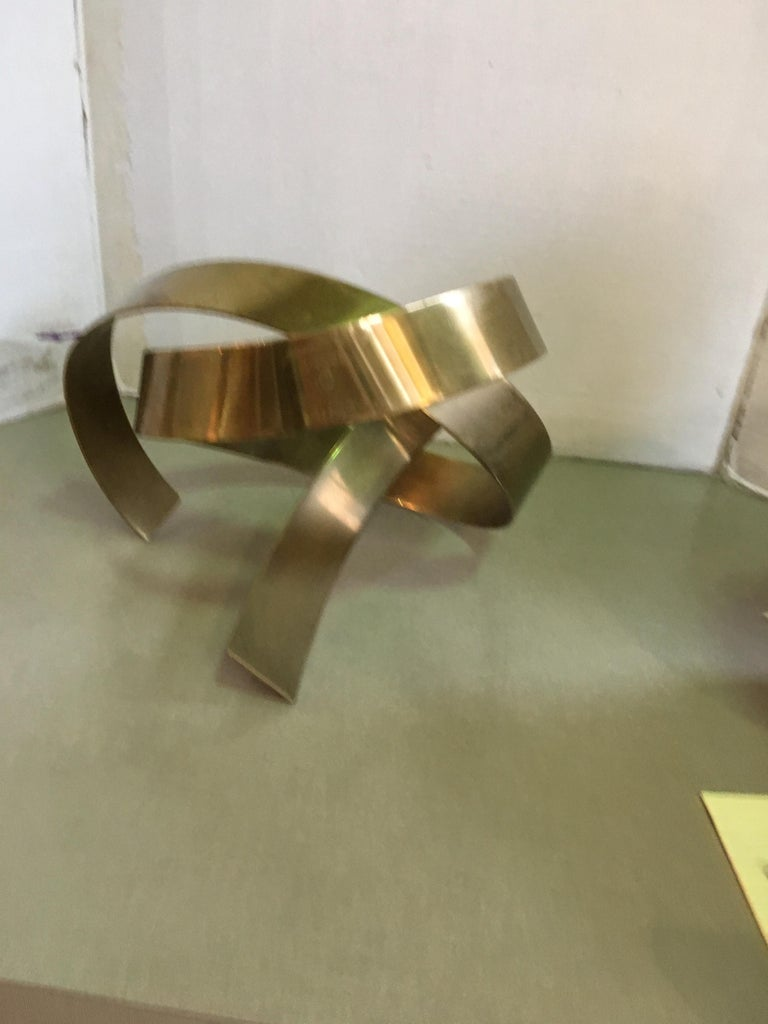 James W. Uhrig Brass Abstract Sculpture For Sale 1