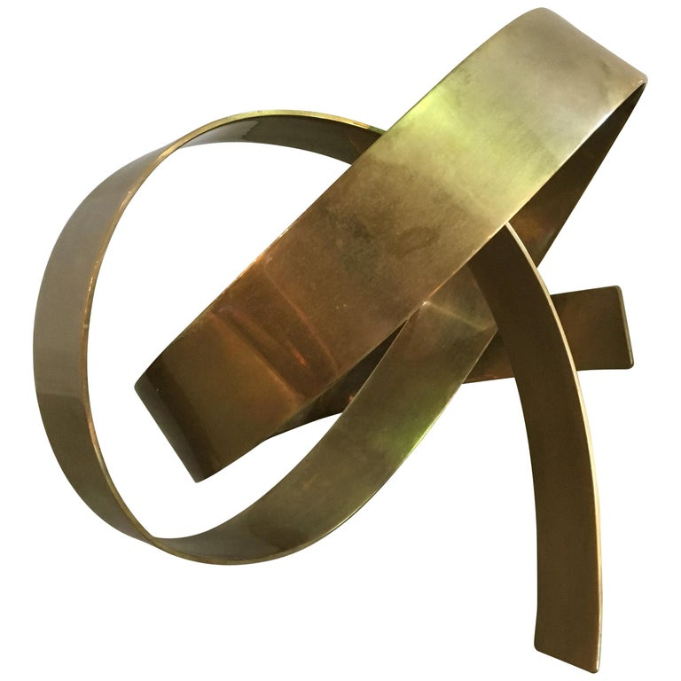 James W. Uhrig Brass Abstract Sculpture For Sale