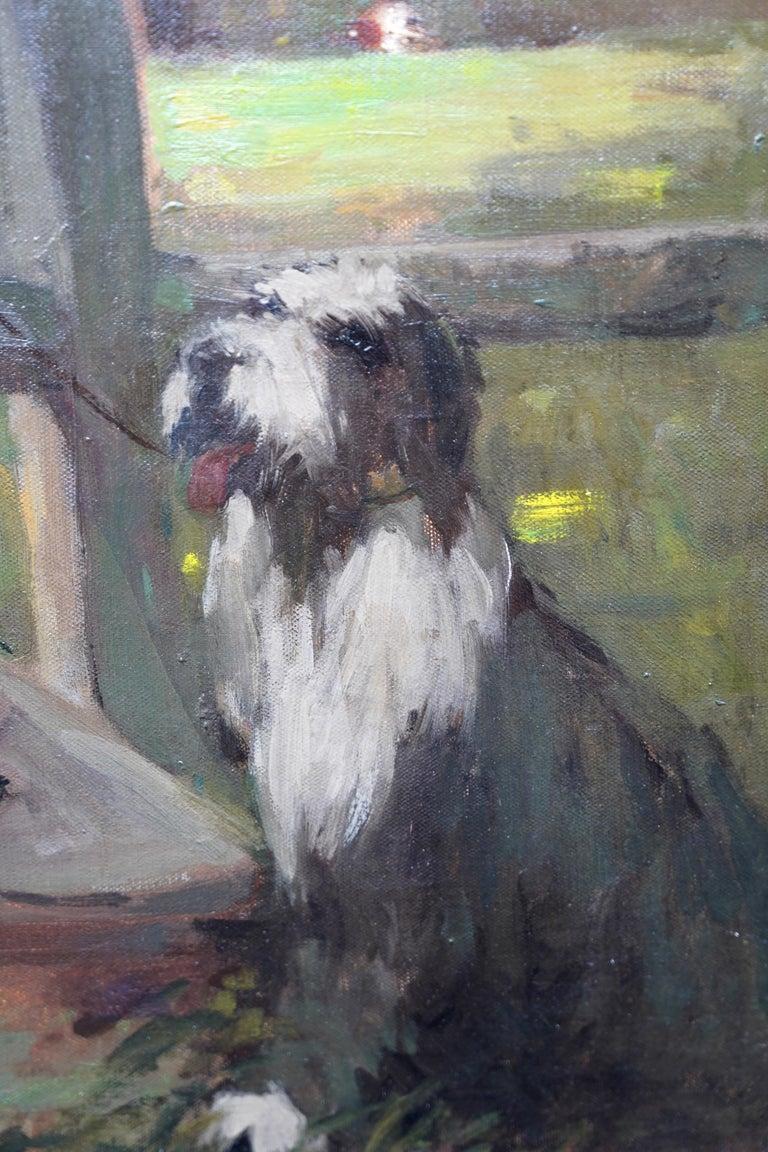 The Rendezvous - Scottish 1908 art portrait oil painting Elsie Viola Robinson  For Sale 2