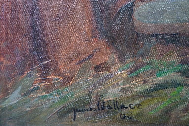 The Rendezvous - Scottish 1908 art portrait oil painting Elsie Viola Robinson  For Sale 3