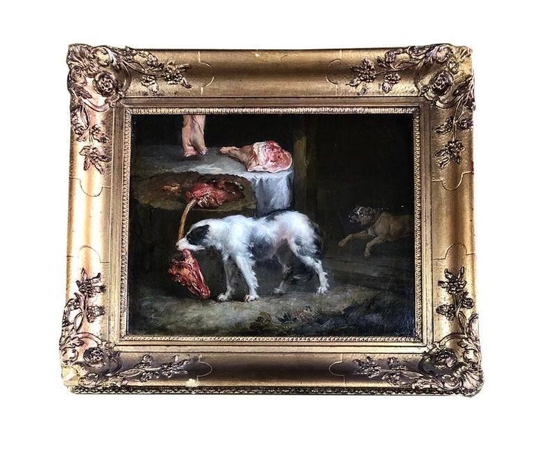 A Pair of 19th Century Animals Paintings, Oil Paint on Canvas, Old Master, Ward For Sale 1