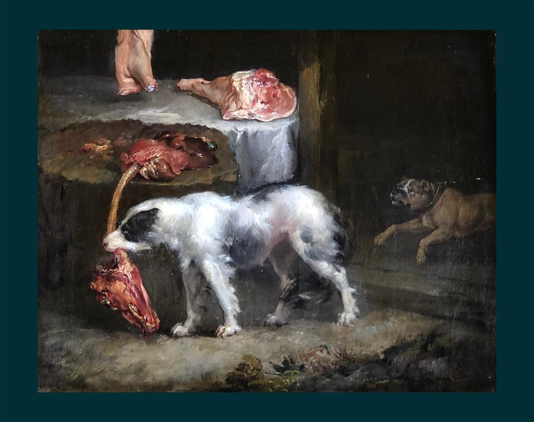A Pair of 19th Century Animals Paintings, Oil Paint on Canvas, Old Master, Ward For Sale 2