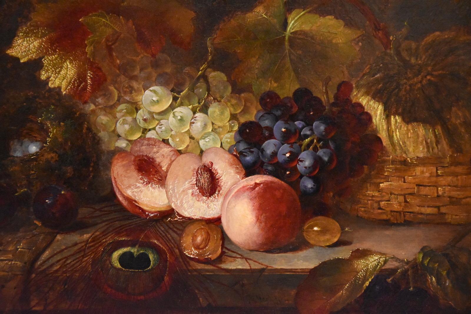 "Oil Painting Still-Life ""Dessert Fruit"" by James Ward"