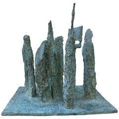 James Wines Bronze Sculpture