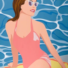 August Afternoon (Pink Swimmer Blue Water)