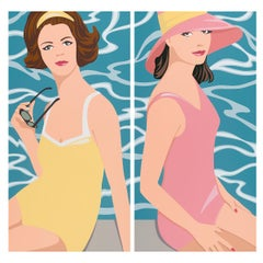 James Wolanin, August Style (Diptych) acrylic & resin on panel, pop figurative