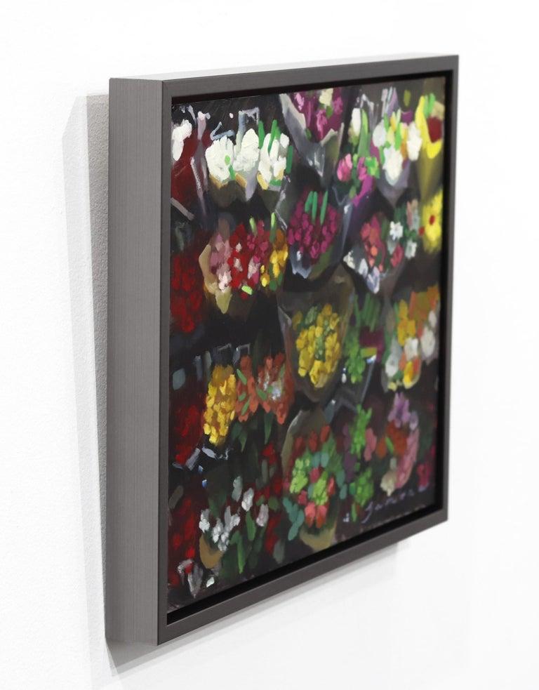 Floral Aisle No. 2 - Black Still-Life Painting by James Zamora