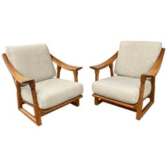 Jamestown Lounge, Stylish Paddle Arm Lounge Chairs by Jack Van Der Molen