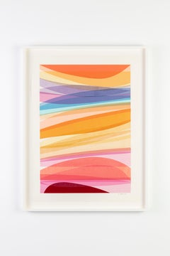 """""""Infusion Collage - Modulated Warp"""", Contemporary, Framed, Work on Paper"""