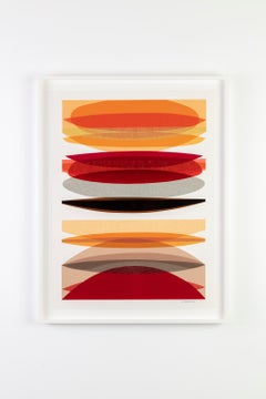 """""""Infusion Collage - Segmented Weave"""", Contemporary, Framed, Collage, on Paper"""