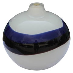 Modern Blue And White Sculpture / Vase