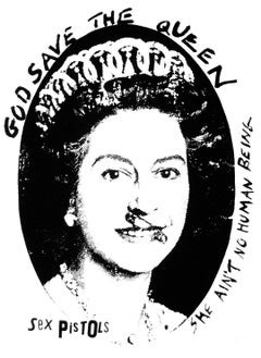 """""""God Save the Queen - Sex Pistols"""" Anniversary Edition Print (black on white)"""