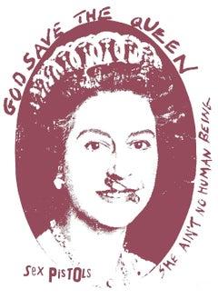 """God Save the Queen - Sex Pistols"" Anniversary edition print (mauve)"