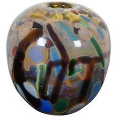 Jamie Sherman Hand Blown Studio Art Glass Bud Vase Diffuser Modern Abstract
