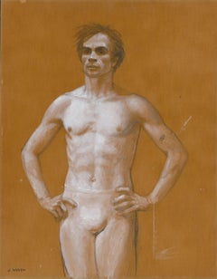 Three Quarter Figure, Study for Portrait of Rudolf Nureyev (Study #91)
