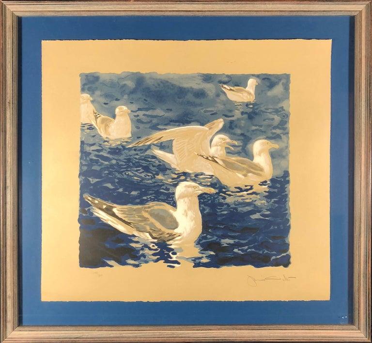 Jamie Wyeth Landscape Print - Herring Gulls