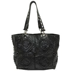 Jamin Puech Black Patchwork Leather Tote Bag