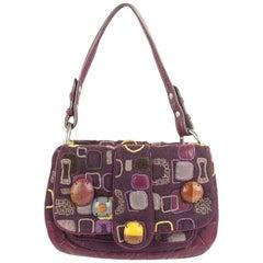 Jamin Puech Geometric Pattern Fabric Shoulder Bag