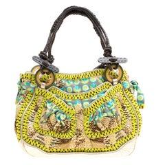Jamin Puech Multicolor Leather and Fabric Embellished Shoulder Bag