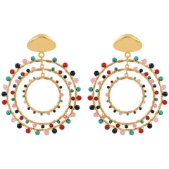 Jam+Rico Maria Earrings in Brass with 14k Gold Plating