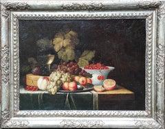 Still Life of Fruit - Dutch 17th century art Old Master still life oil painting