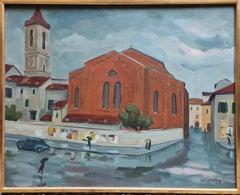 Pluie a Prato, Street Scene in Tuscany, Italy