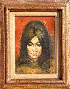 Portrait of a Girl, Oil Portrait Painting by Jan de Ruth