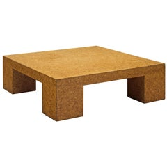 Jan De Smedt Architectural Coffee Table in Cork