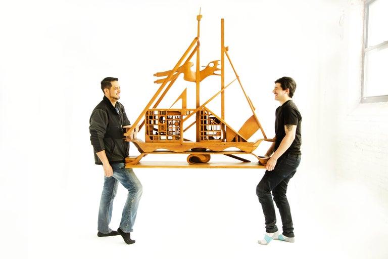 Jan De Swart Monumental Sculptural Ship For Sale 2